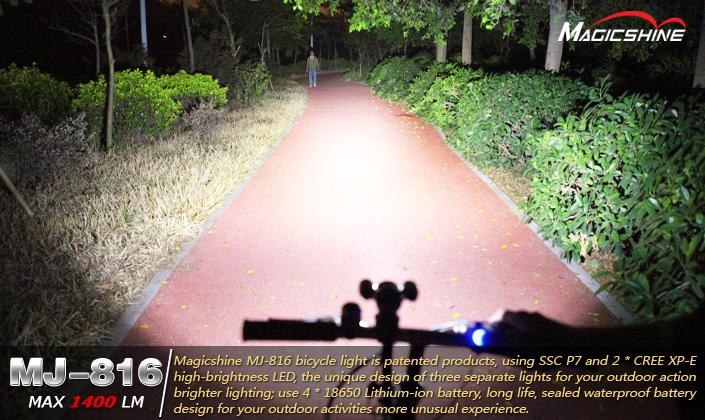 Luci led per mtb mj led power beam mountain bike lights kit