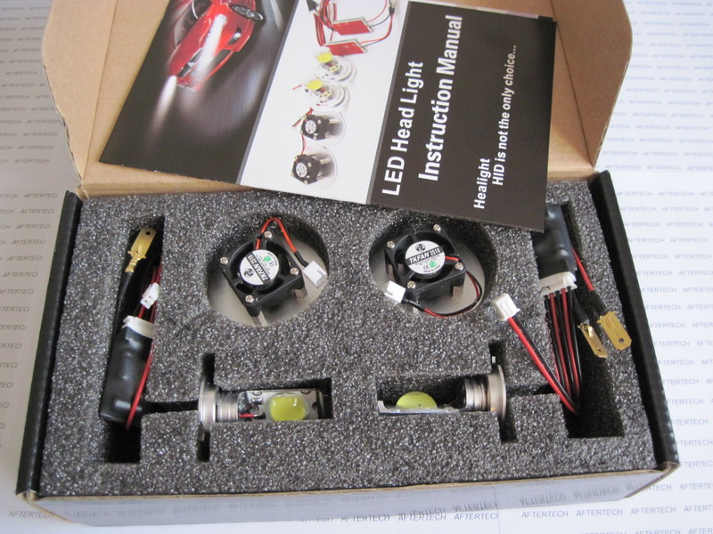 Full led h7 kit 44w sistema completo led per auto fari h7 for Lampadine h7 led