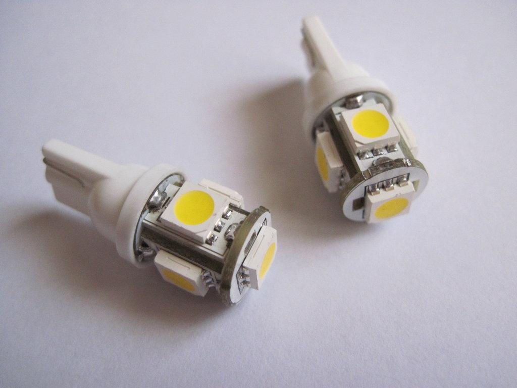2pz lampadine 5 led smd 5050 bianco caldo w5w t10 bw ebay for Lampadine led per auto