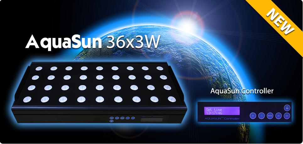 Plafoniera led acquario programmabile alba tramonto 36x3w for Led per acquario