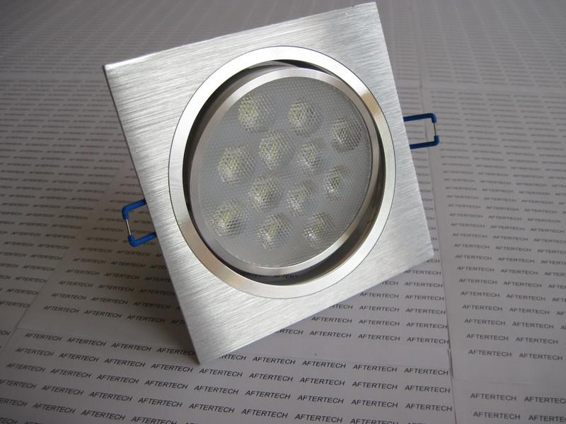 QSN 12X1W 12W Faretto Quadrato LED Da Incasso 60° Bianco Caldo Orientabile  ...