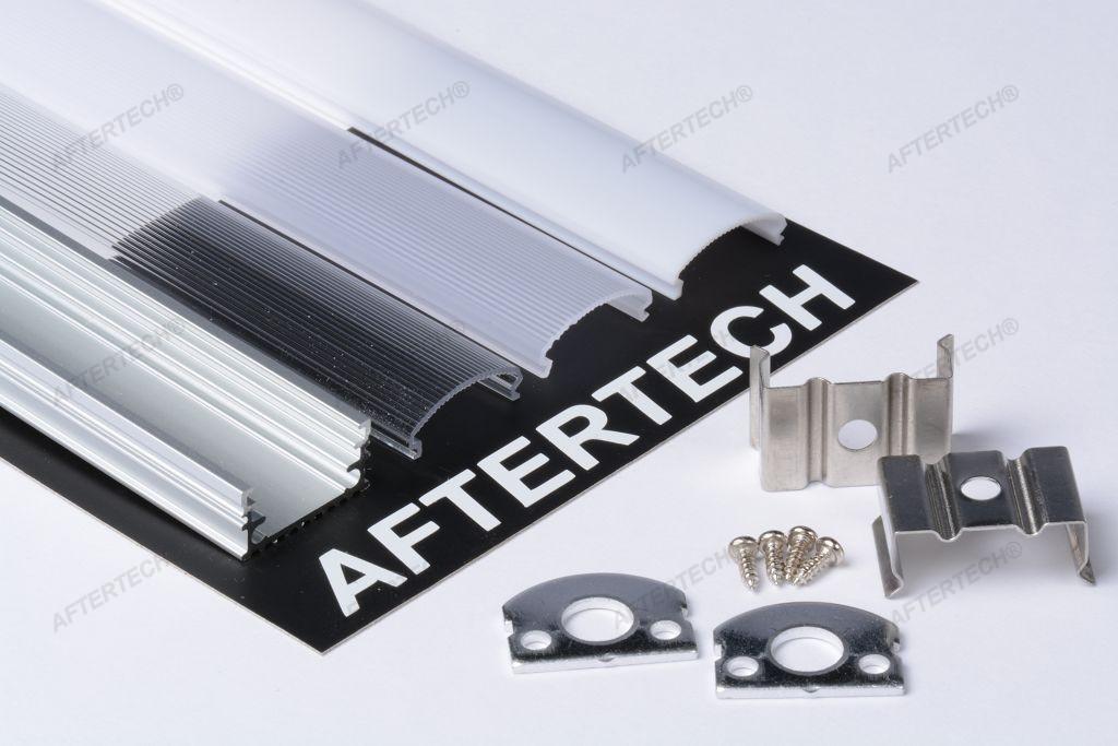Profilo alluminio per strisce strip led barra rigida - Strisce led per mobili ...