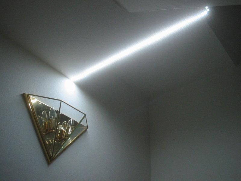 1m 1 metro bianco freddo luce a led strip 12v 12volt ebay for Illuminazione a led per interni