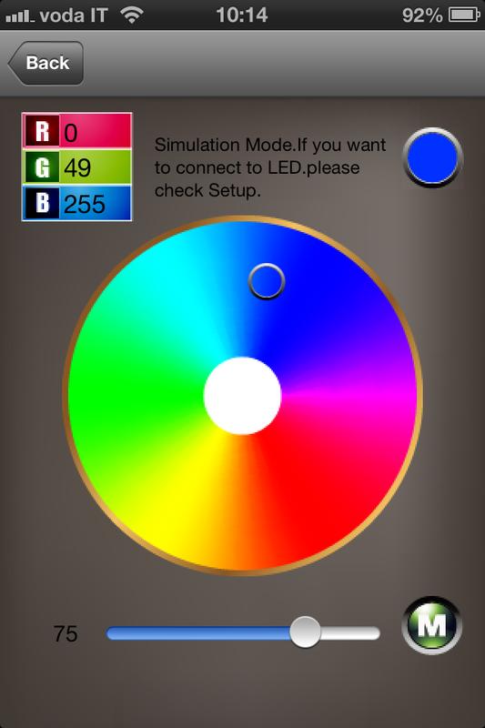 IPHONE IPAD iOS ANDROID CONTROLLER WIFI PER STRISCE STRIP LED RGB WIRELESS B6C2