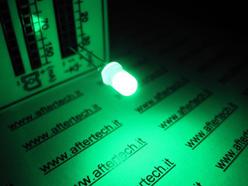 5mm diffusa LED VERDE Pacco da 15