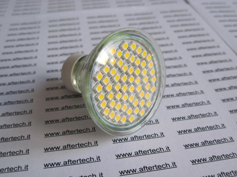10x 180° LAMPADINA FARETTO LED BIANCO FREDDO 60LED STW GU10 220v 2.5w DICROICA