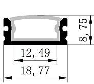 3M 3metri 1617 Profil Angulaire Étanche Aluminium Pour Bandes Strip LED 3mt